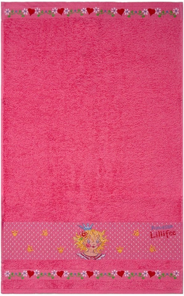 Badetuch, Prinzessin Lillifee, »Lillifee«, mit Bordüre in pink