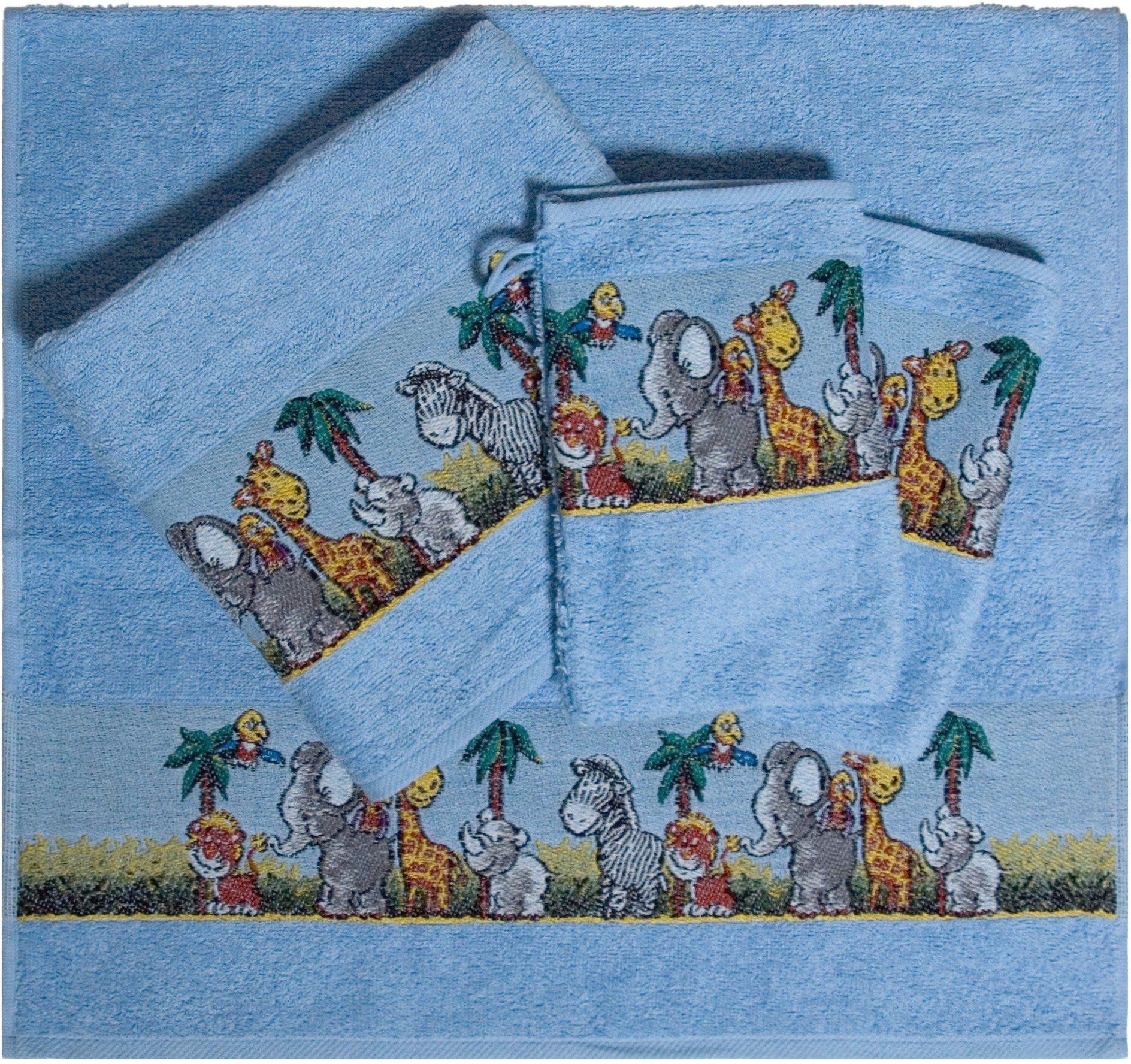 Handtuch Set, Dyckhoff, »Afrika«, mit bunten Tiermotiven