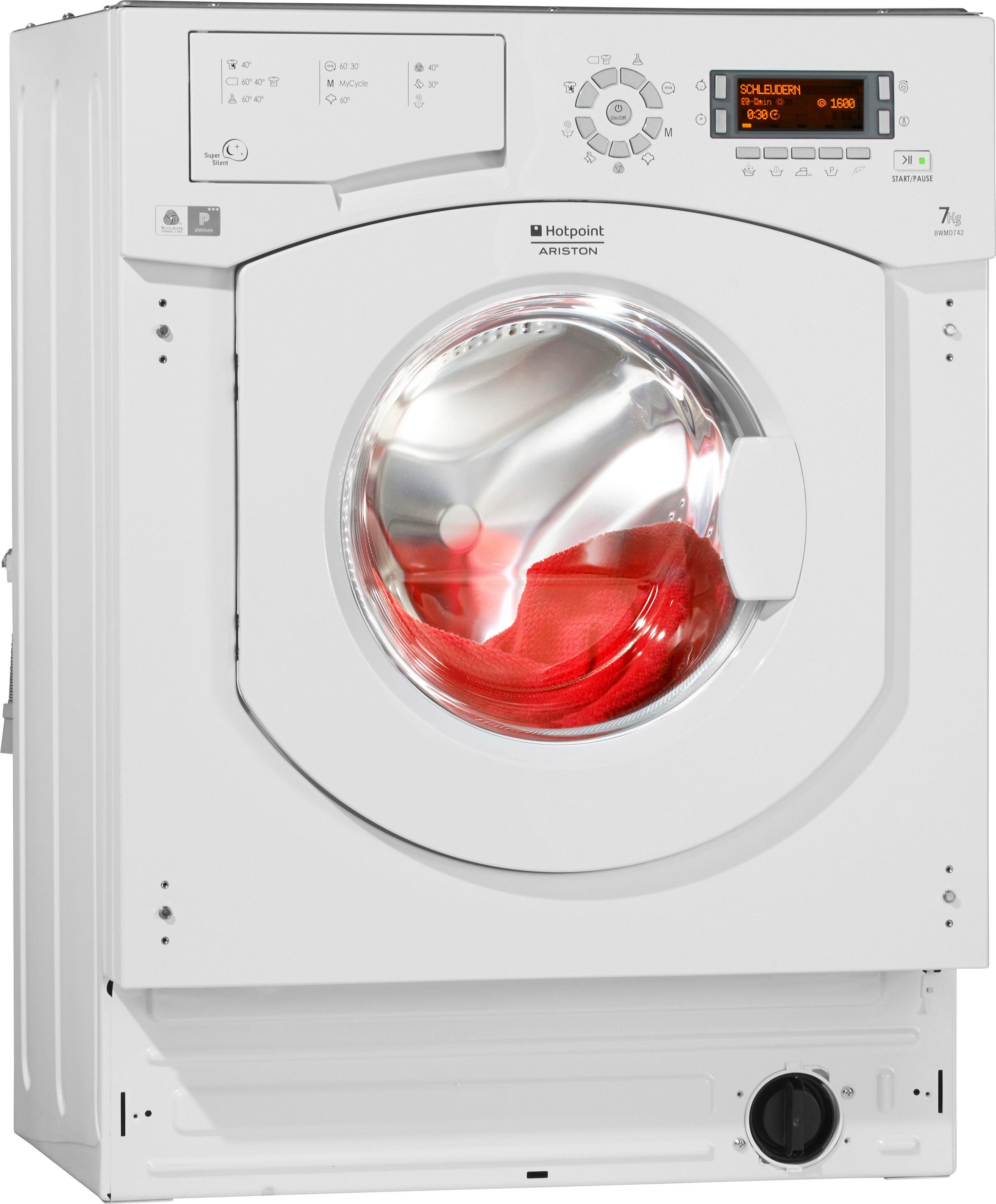 Hotpoint Waschmaschine BWMD 742 EU, A++, 7 kg, 1400 U/Min