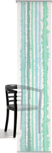 Schiebegardine »Aquarellstreifen«, emotion textiles, Klettband (1 Stück), inkl. Beschwerungsstange