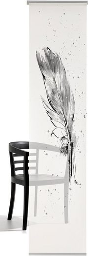 Schiebegardine »Temperafeder«, emotion textiles, Klettband (1 Stück), inkl. Beschwerungsstange
