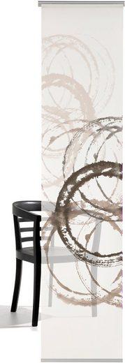 Schiebegardine »Aquarellkreise«, emotion textiles, Klettband (1 Stück), HxB: 260x60, mit Befestigungszubehör