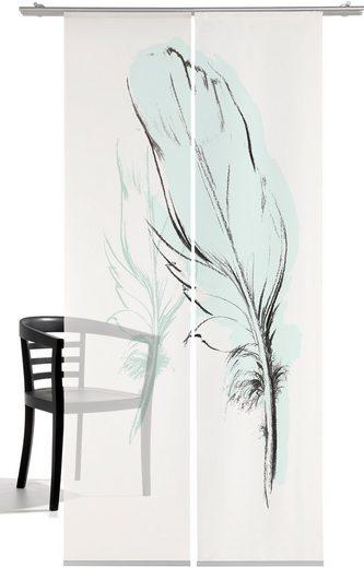 Schiebegardine »Konturfeder«, emotion textiles, Klettband (2 Stück), HxB: 260x60, mit Befestigungszubehör
