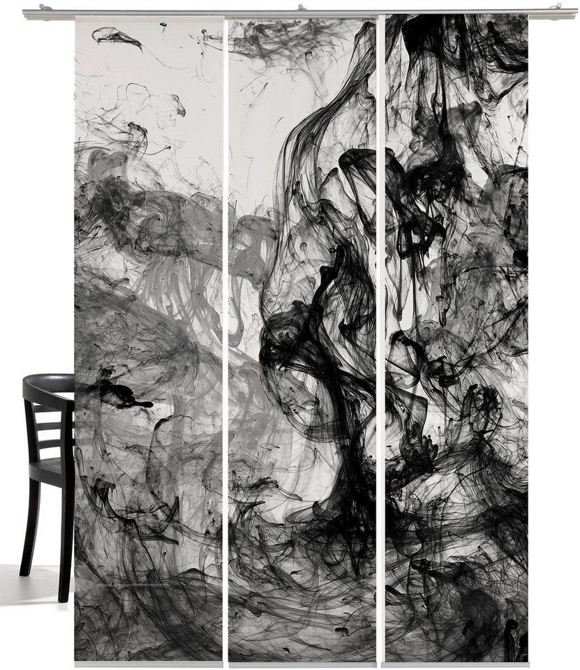 schiebegardine »storm of colours«, emotion textiles, klettband (3