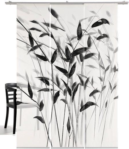Schiebegardine »Gras 3D«, emotion textiles, Klettband (3 Stück), mit Befestigungszubehör