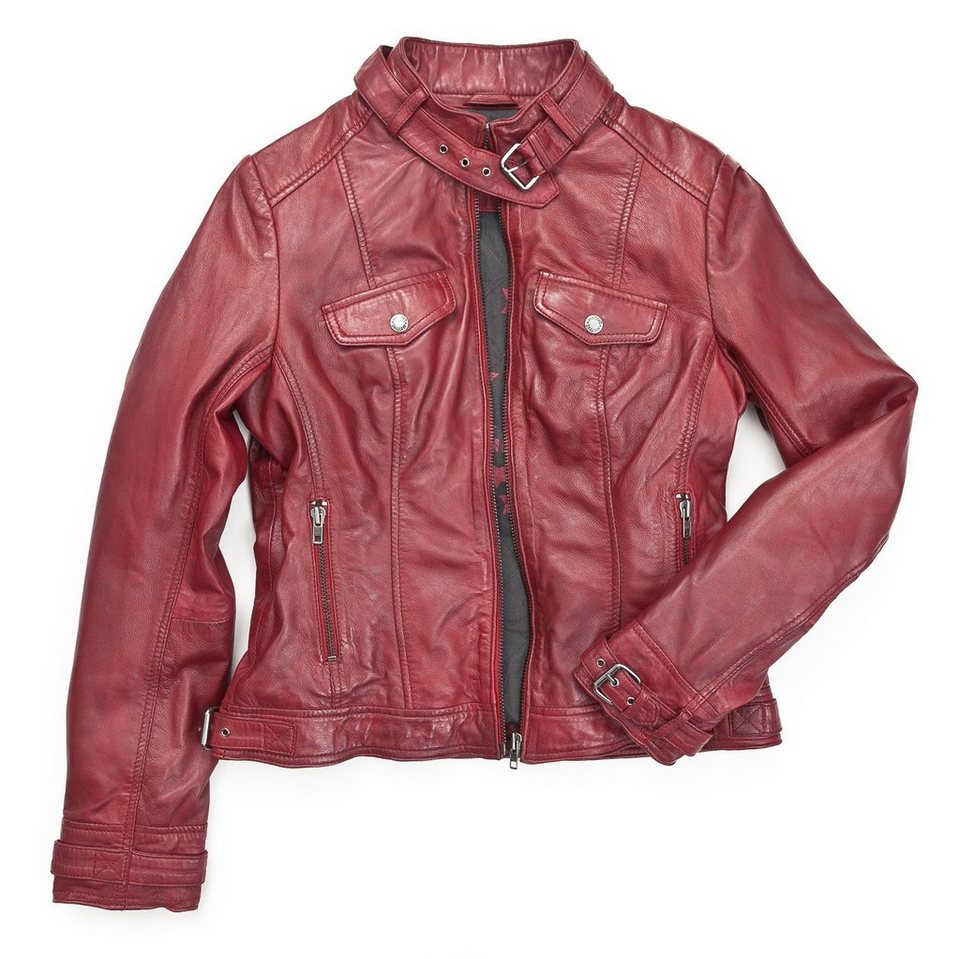 Mustang Lederjacke, Damen »Helen« in red