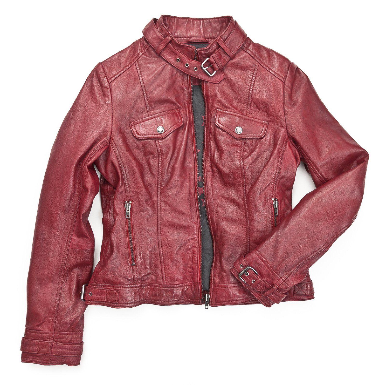 Mustang Lederjacke, Damen »Helen«, Echtes Leder online kaufen | OTTO