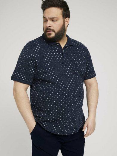 TOM TAILOR Men Plus Poloshirt »gepunktetes Poloshirt mit Bio-Baumwolle«