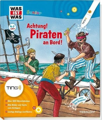 Gebundenes Buch »Piraten an Bord! Ting-Edition was ist was Junior«