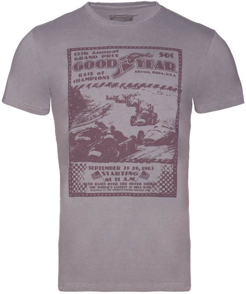 Goodyear T-Shirt »AUSTIN« in Vintage Anthra