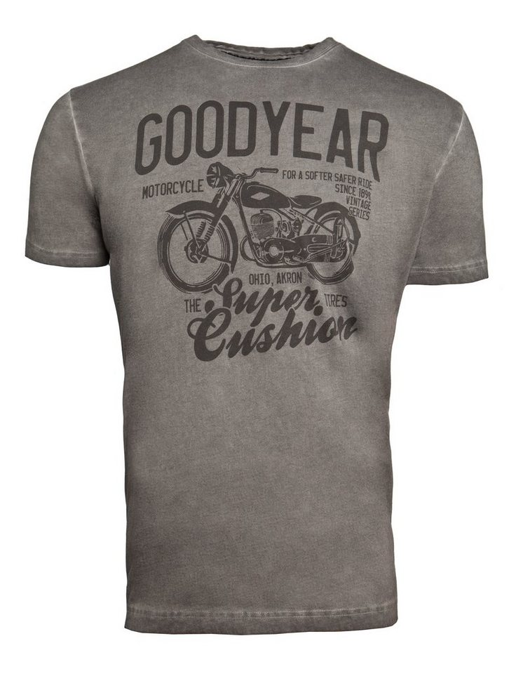 Goodyear T-shirt »BEAUFORT« in Vintage Anthra