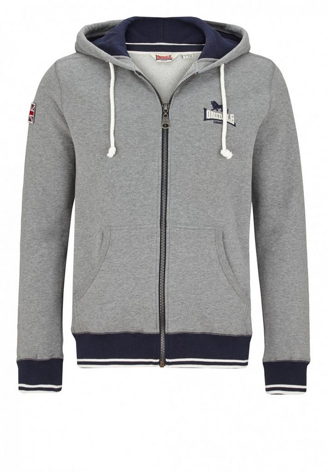 Lonsdale Sweatjacke in Marl Grey