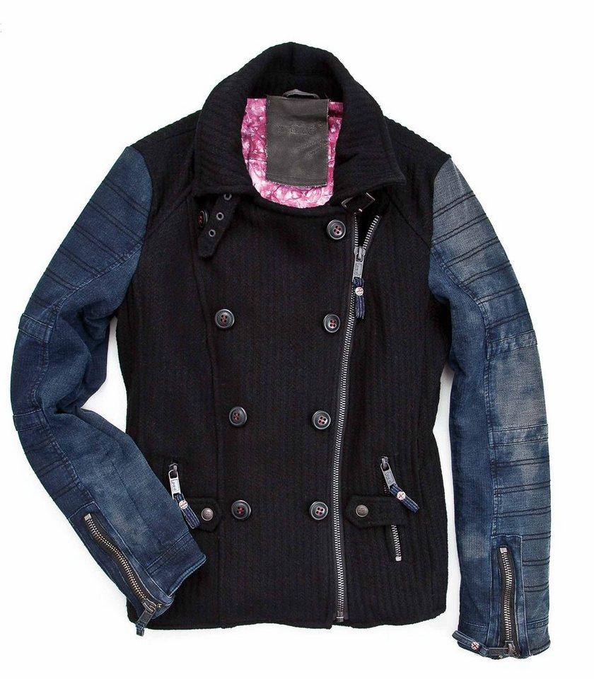 proud Bikerjacke »Tocantis« in schwarz/denim