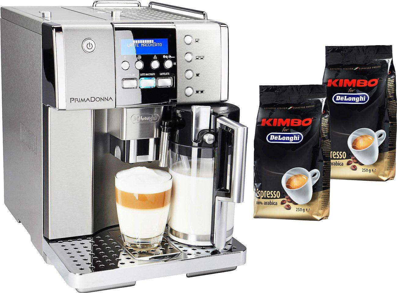 DELONGHI Kaffeevollautomat PrimaDonna ESAM 6620, 1,8l Tank, Kegelmahlwerk