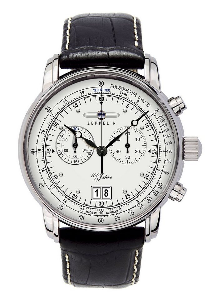 ZEPPELIN Chronograph »100 Jahre Zeppelin, 7690-1« Made in Germany in schwarz