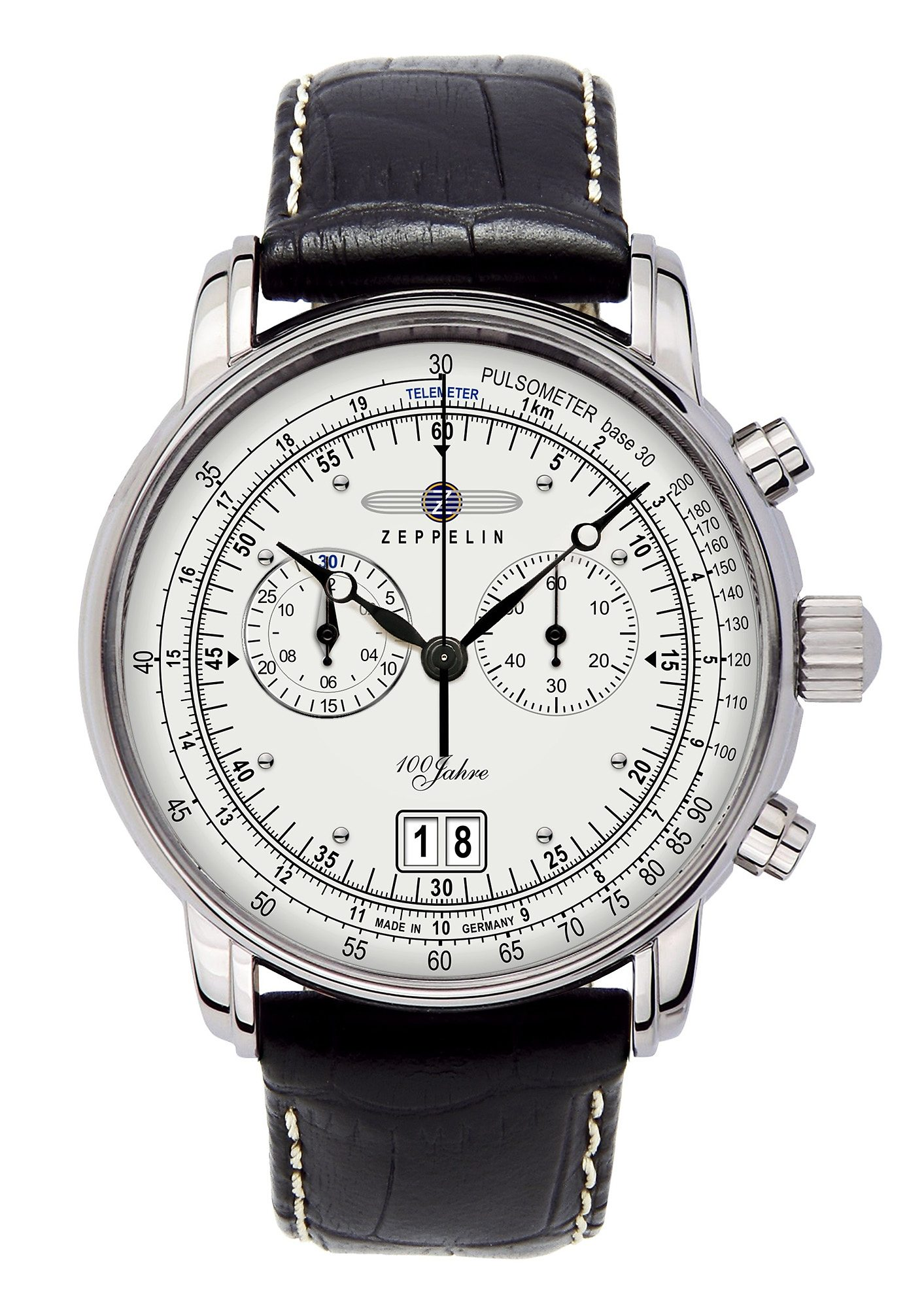 ZEPPELIN Chronograph »100 Jahre Zeppelin, 7690-1«, Made in Germany