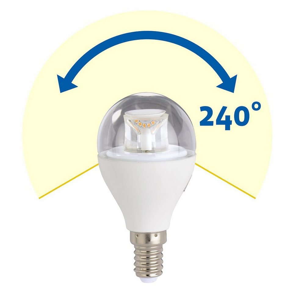 Xavax LED-Lampe, 5,9W, Tropfenform, E14, Warmweiß in Weiss