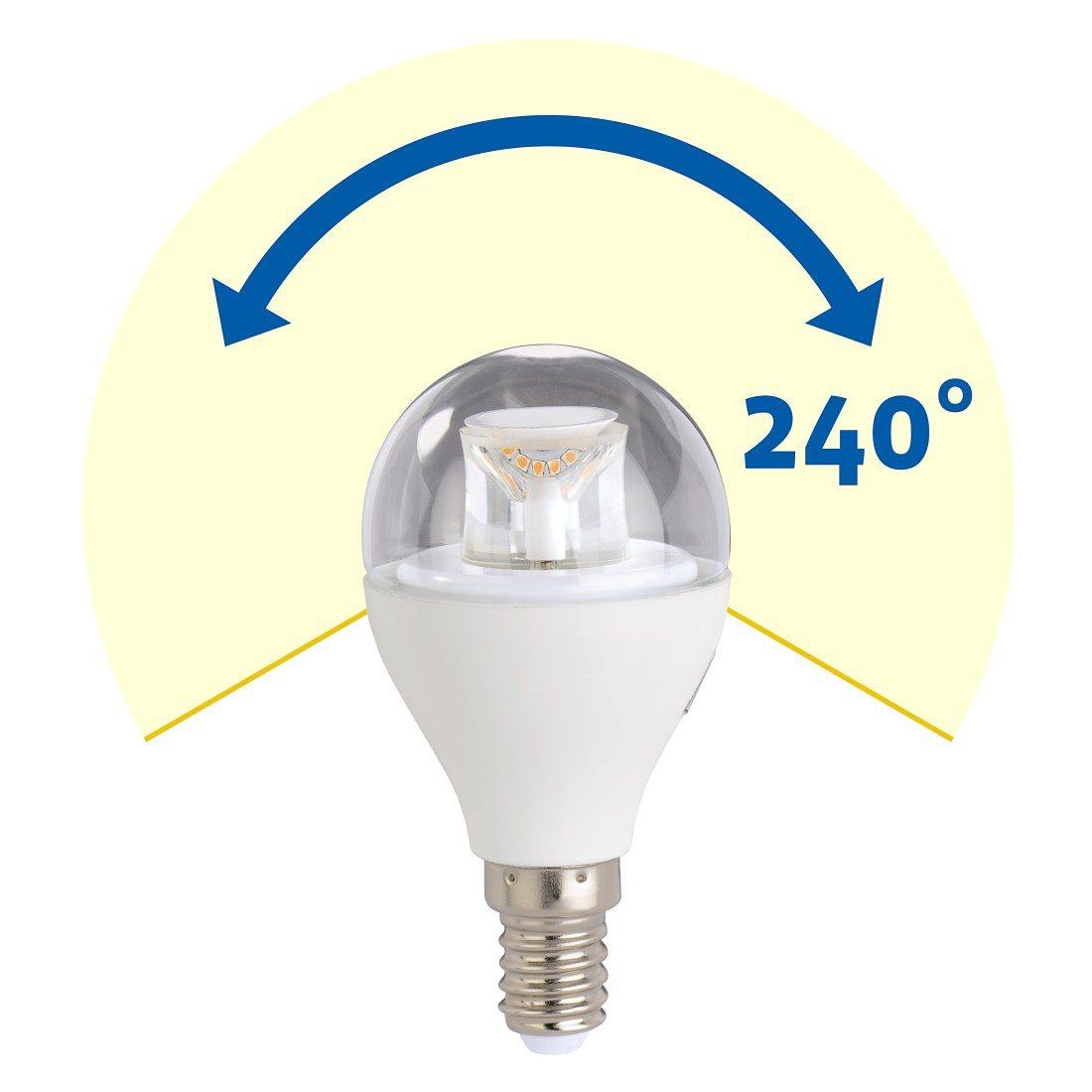 Xavax LED-Lampe, 5,9W, Tropfenform, E14, Warmweiß