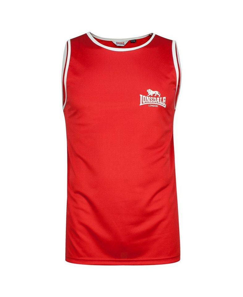 Lonsdale Shirt SINGLET »AMATEUR SINGLET (L130)« in Red