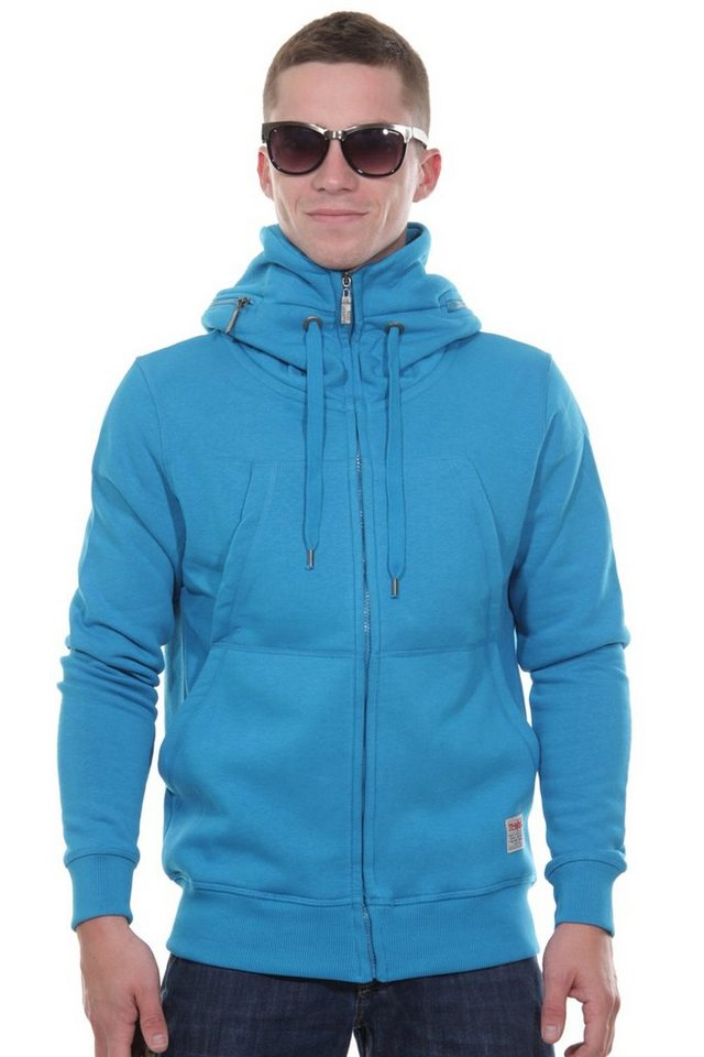 R-NEAL Kapuzensweatjacke slim fit in türkis