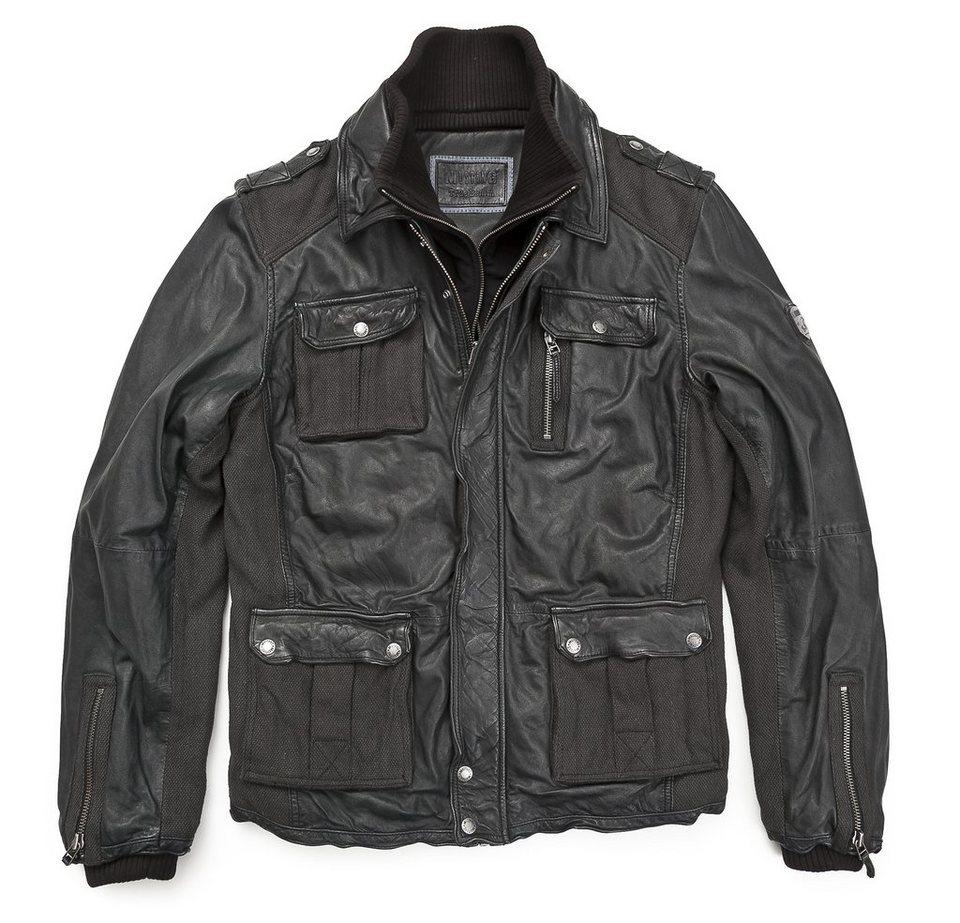 Mustang Lederjacke, Herren »Henderson-C« in schwarz
