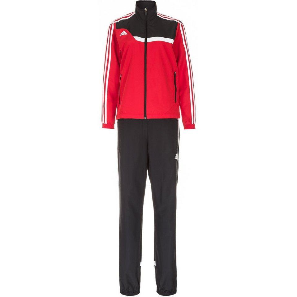 adidas Performance Set: Tiro 13 Präsentationsanzug Damen (Packung, 2 tlg.) in rot / weiß / schwarz