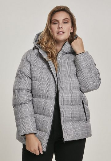 URBAN CLASSICS Winterjacke »Ladies AOP Glencheck Puffer Jacket«