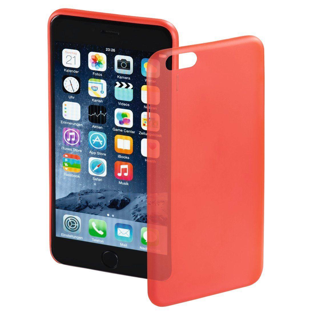 Hama Cover Ultra Slim für Apple iPhone 6 Plus/6s Plus, Rot
