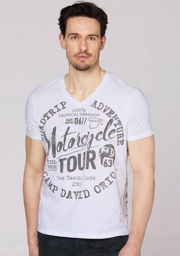 CAMP DAVID T-Shirt mit Schrift-Print