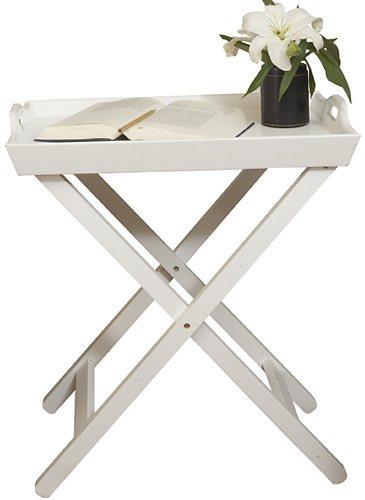 Tabletttisch, Home affaire, »Mosi«, Höhe 64 cm in Weiß