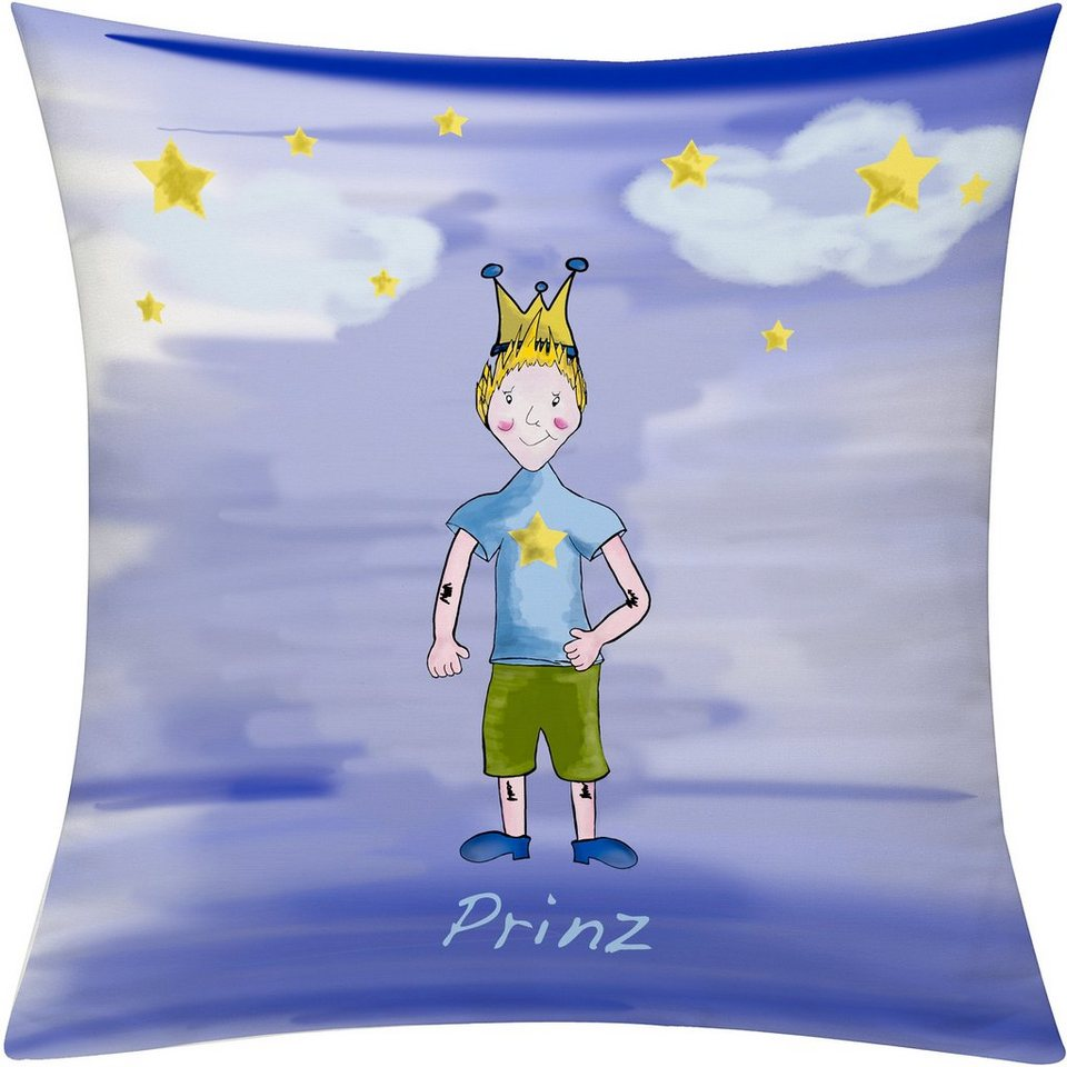 Kissenhülle, Emotiontextiles, »Prinz Nacht« in blau