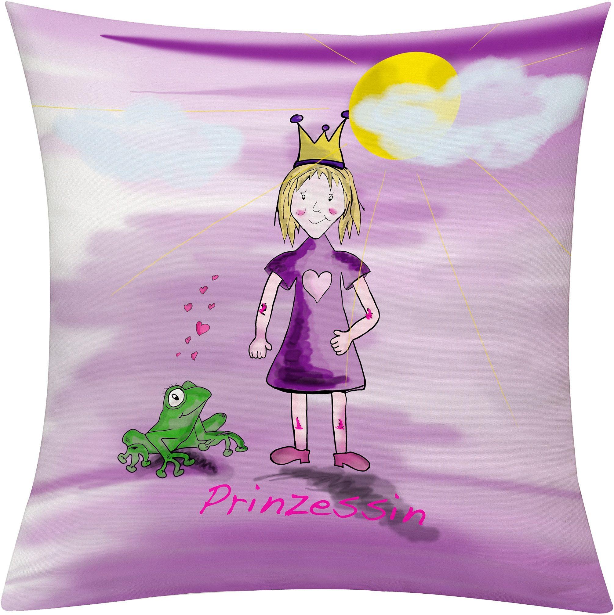Kissenhülle, Emotiontextiles, »Prinzessin Tag«