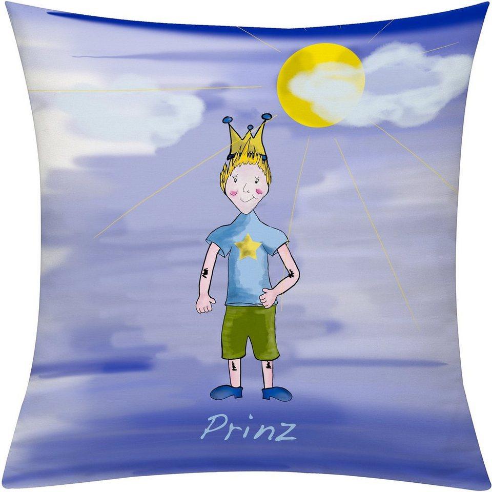 Kissenhülle, Emotiontextiles, »Prinz Tag« in blau