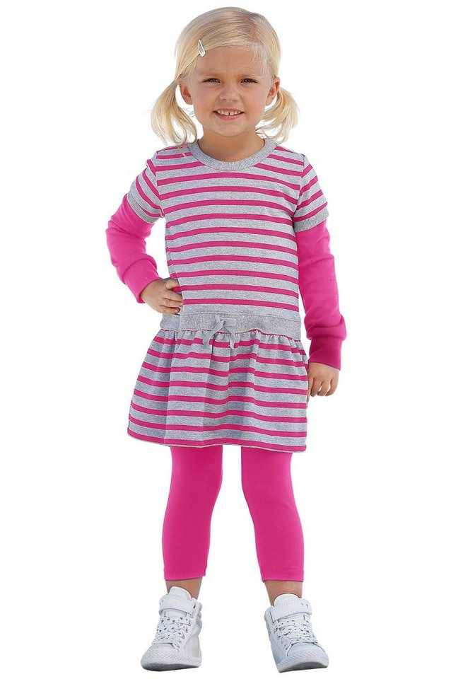 CFL Kleid & Leggings (Set, 2 tlg.) in pink-grau+pink