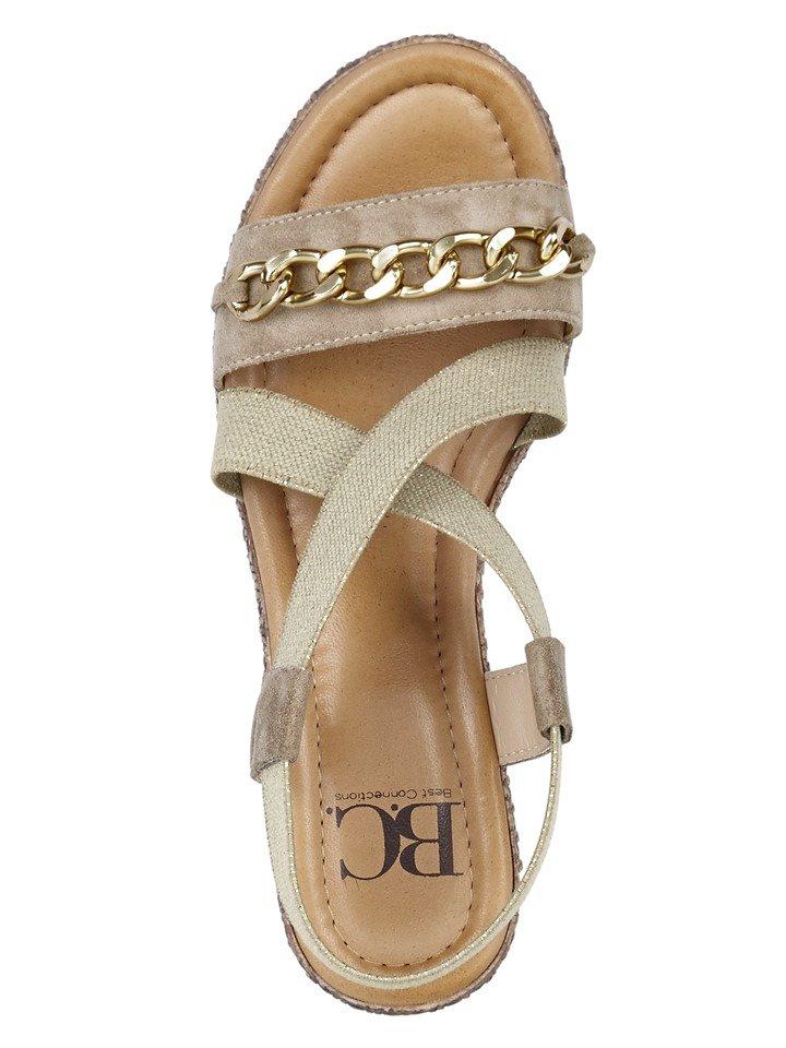 Sandalette in beige