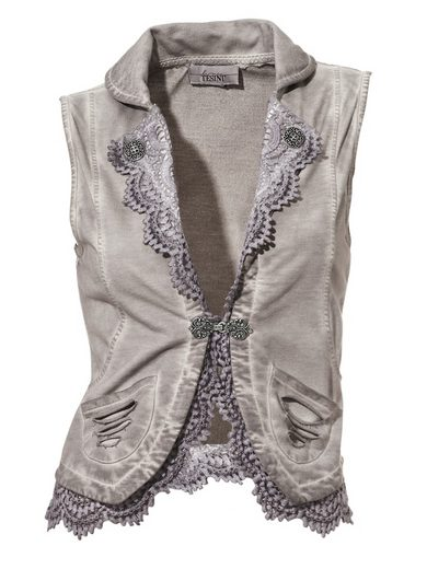 Linea Tesini By Heine Shirt Vest With Lace