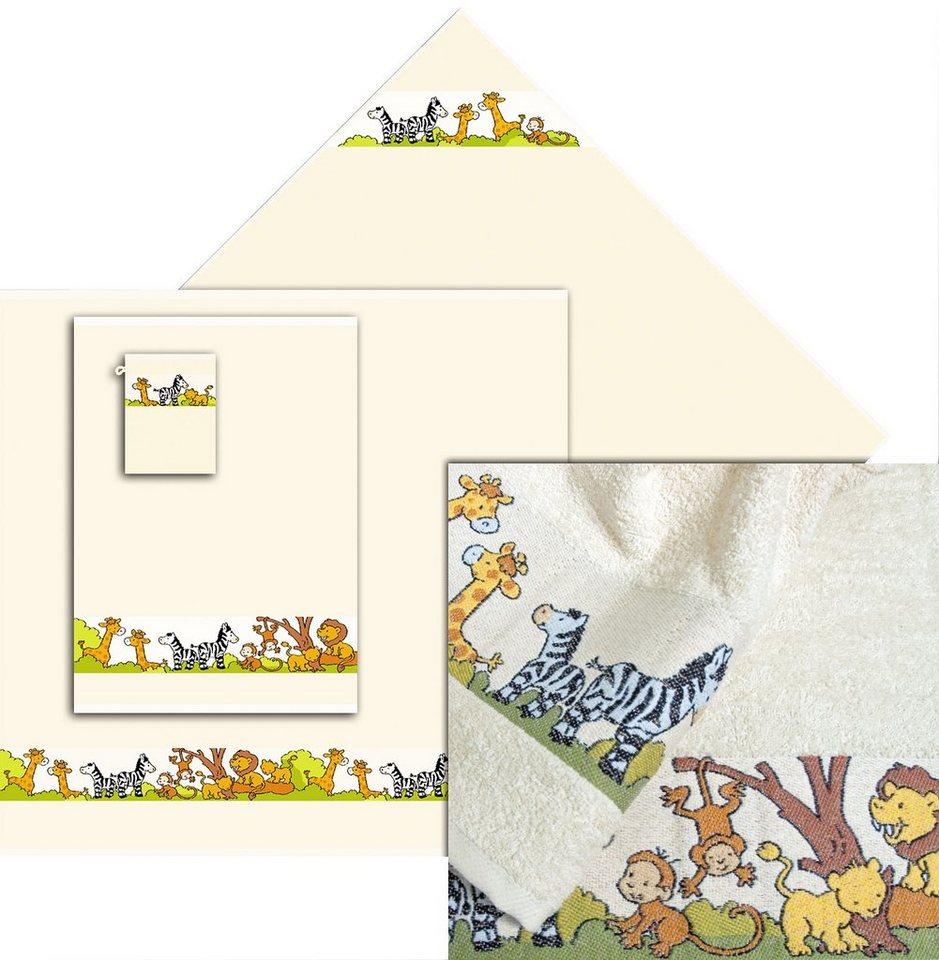 Handtuch Set, Dyckhoff, »Zoo«, mit gewebter Tierbordüre in natur