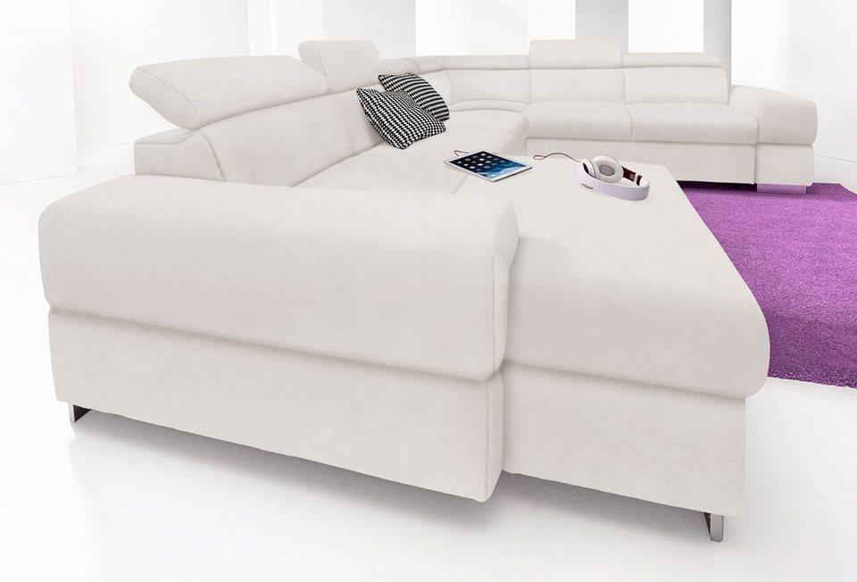 cotta wohnlandschaft wahlweise mit bettfunktion otto. Black Bedroom Furniture Sets. Home Design Ideas
