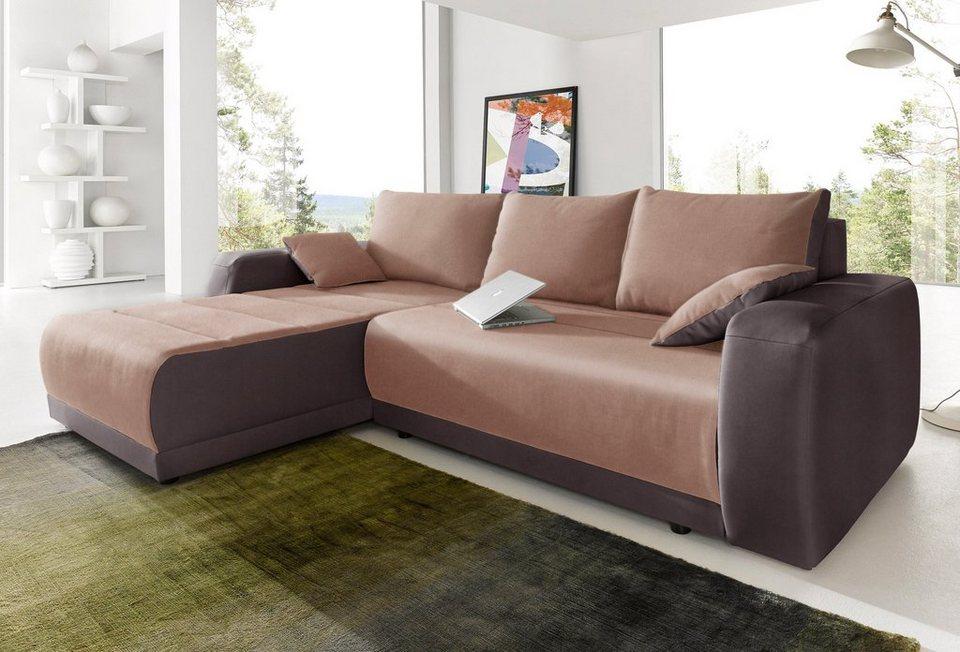Polsterecke, Sit & More, wahlweise mit Bettfunktion in dunkelbraun/braun