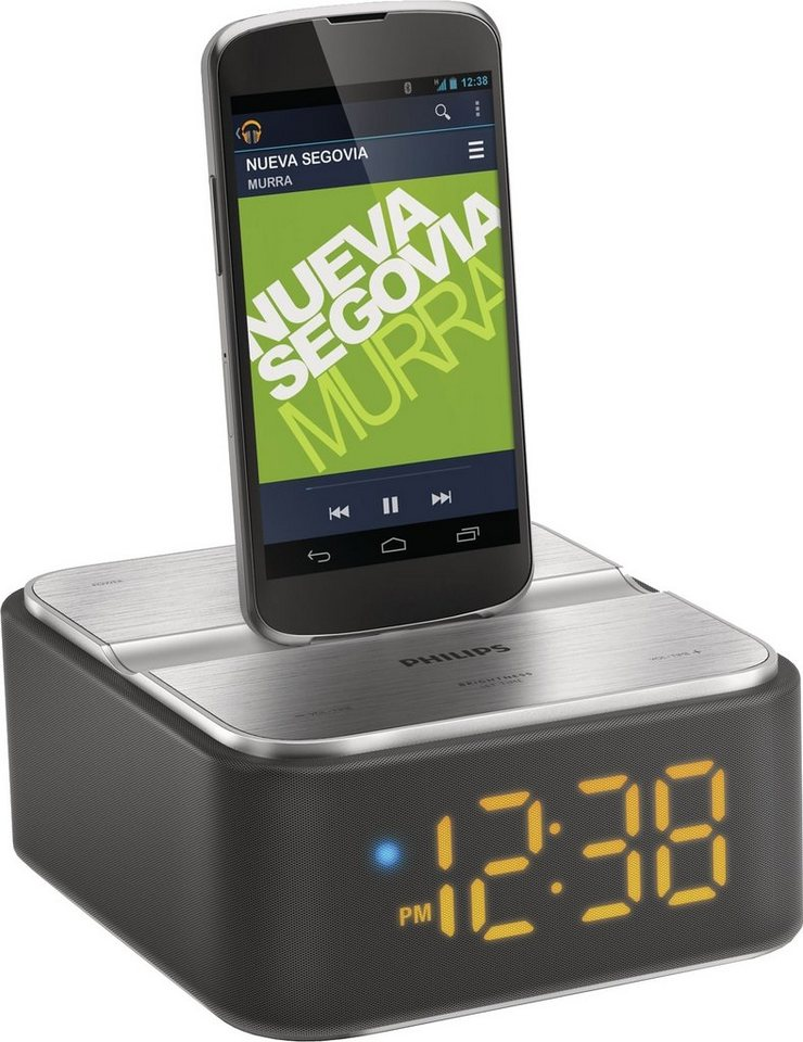 Philips AS130 mit Micro-USB Anschluss für Android-Smartphones Dockingstation in schwarz