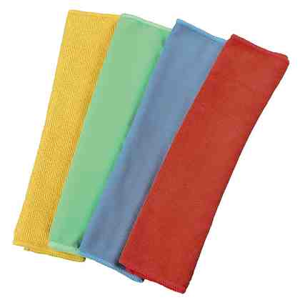Xavax Mikrofasertücher. 30 x 30 cm, blau/grün/gelb/rot
