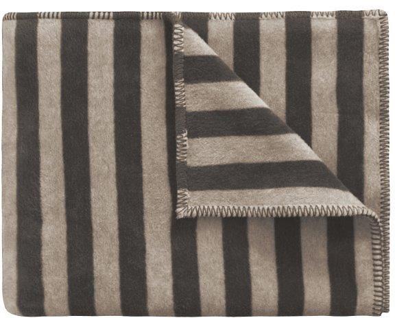 Wohndecke, Marc O'Polo Home, »Classic Stripe«, im Streifen-Design in braun