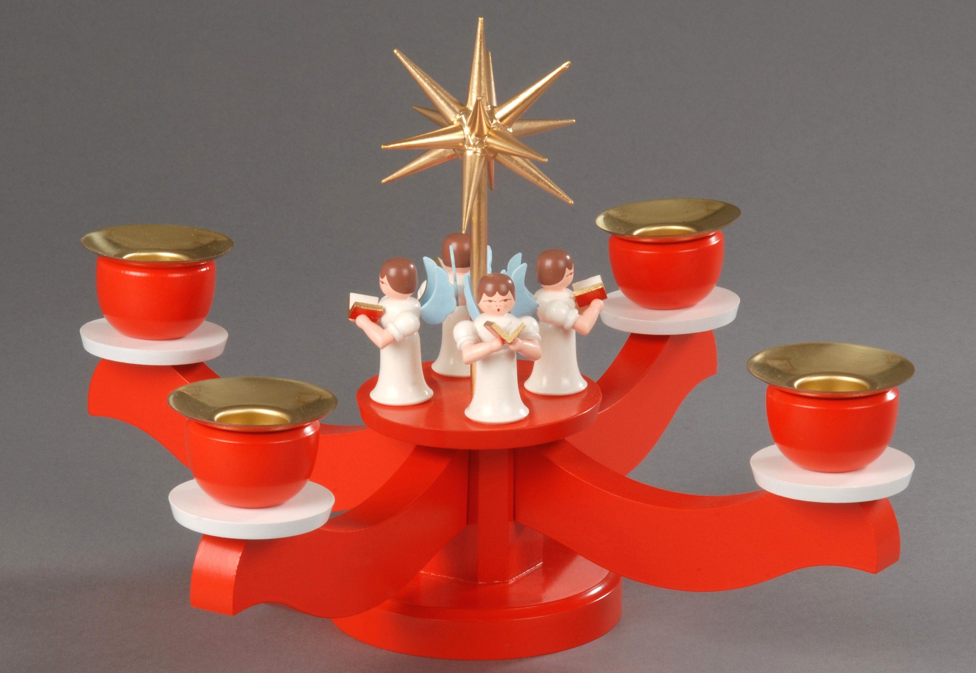 Adventsleuchter mit 4 stehenden Engel, Albin Preißler