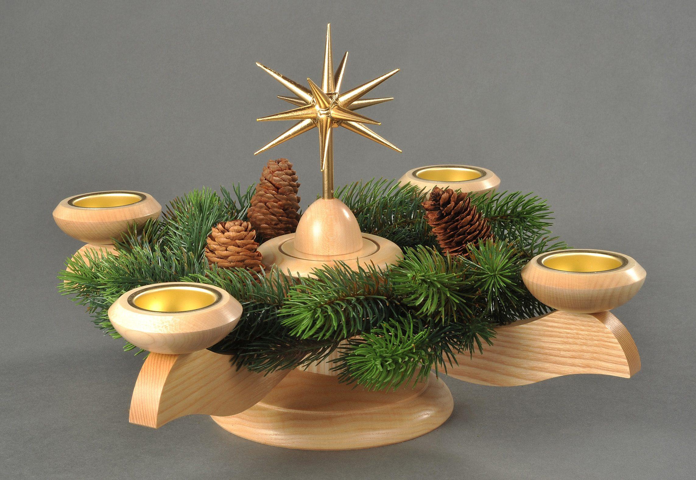 Adventsleuchter, natur, »Weihnachtsstern«, Albin Preißler