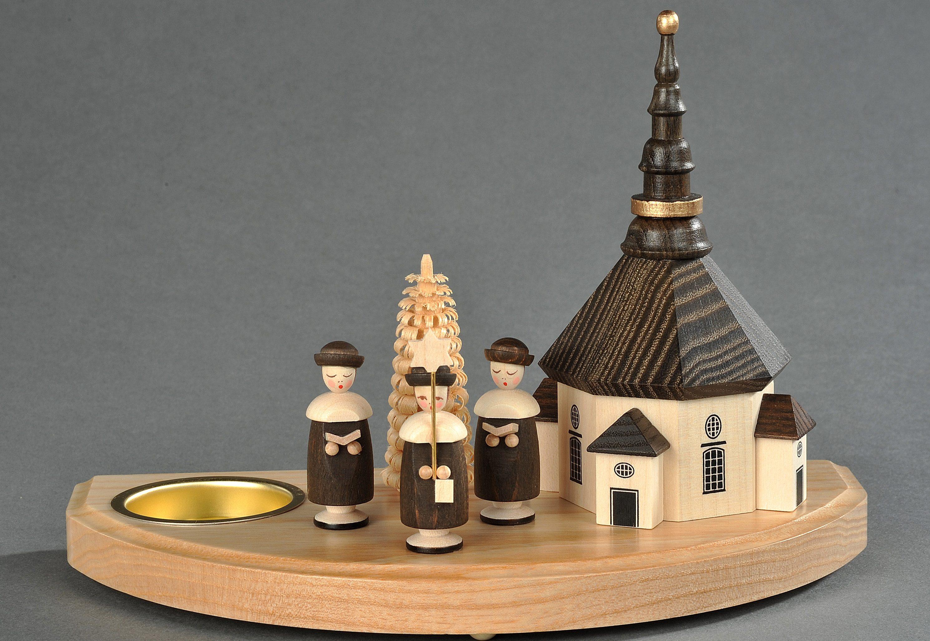 Kerzenhalter, natur, Albin Preißler