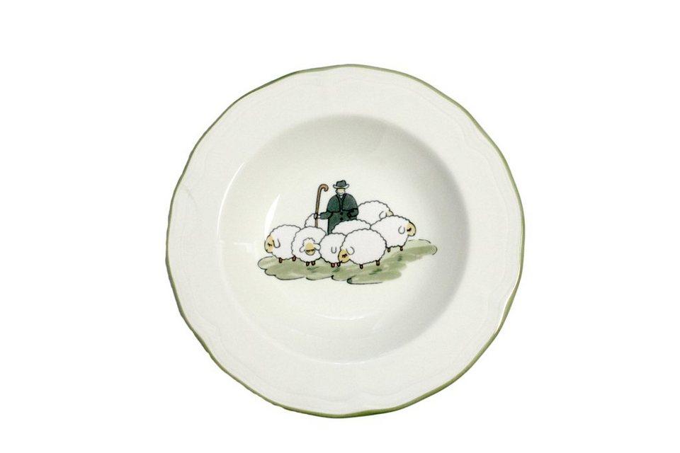 Zeller Keramik Teller »Schäfchen« in Weiß