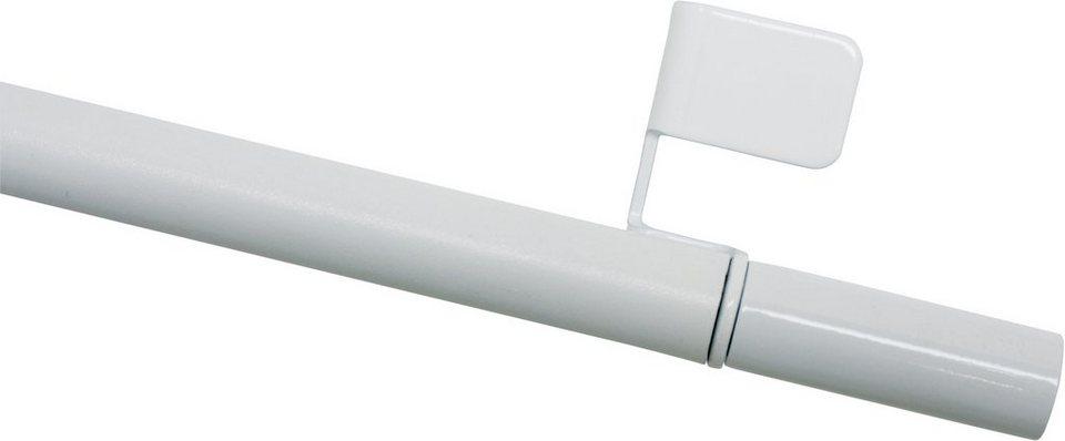 Scheibenstange ausdrehbar ø 8/10 mm, Gardinia, »Gardinia Klemmstange Press & Go Filigrano Zylinder« in weiß