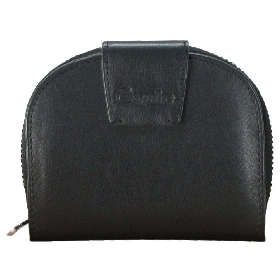 Esquire Silk Münzbörse Leder 10,5 cm in black