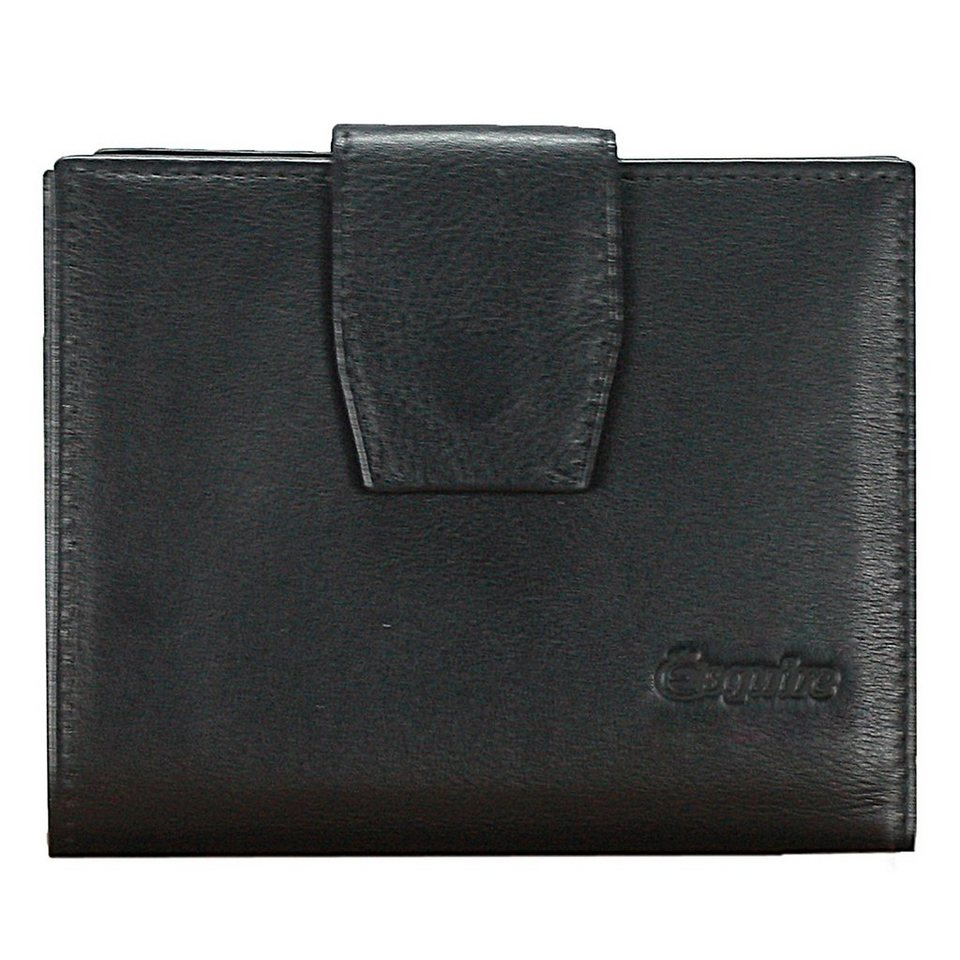 Esquire Silk Damengeldbörse Leder 12 cm in black