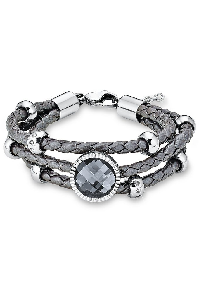 Armband, »SO1144/1«, s.Oliver in silberfarben/grau